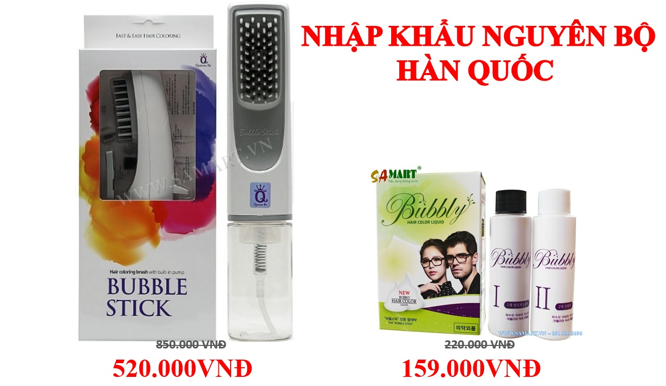 bo luoc nhuom toc thong minh BUBBLE STICK HAN QUOC 1